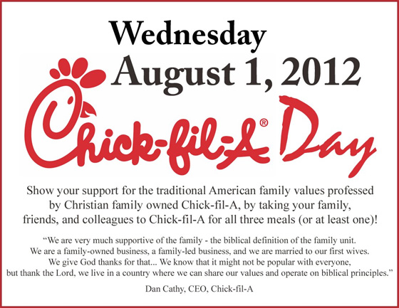 Chickfila Appreciation Day August Whole To The Core Blog - August 1