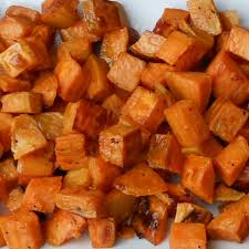 "Roasted Sweet Potato Salad with Warm Chutney Dressing – ""A Salad ..."